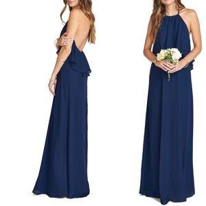 Show Me Your Mumu Aimee Ruffle Maxi Halter Dress